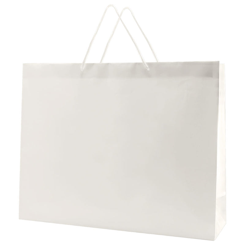 Glossy Rope Handle Bags - White
