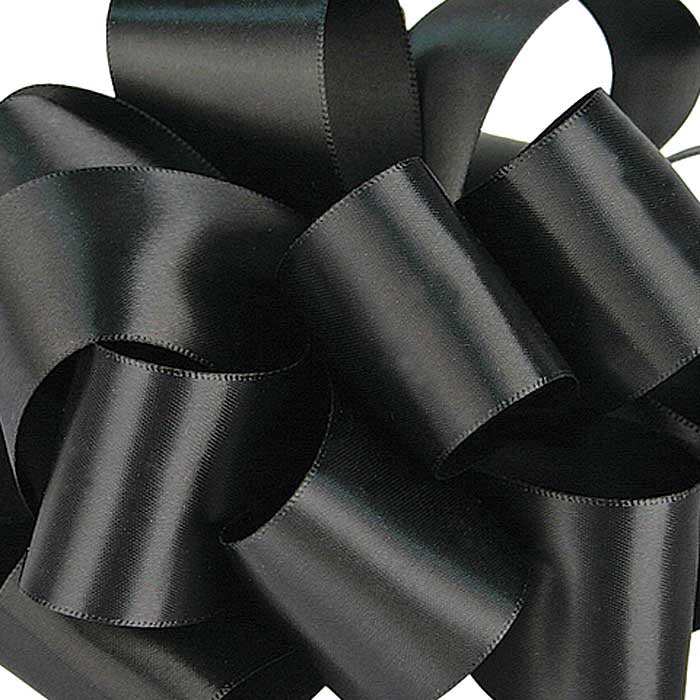 Double Face Satin Ribbon/Black