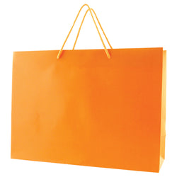 Matte Rope Handle Bags - Orange