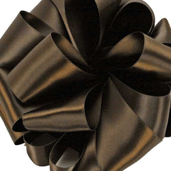 Double Face Satin Ribbon/Chocolate