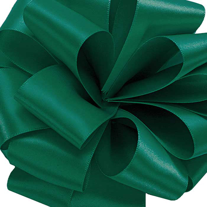 Double Face Satin Ribbon/forest green
