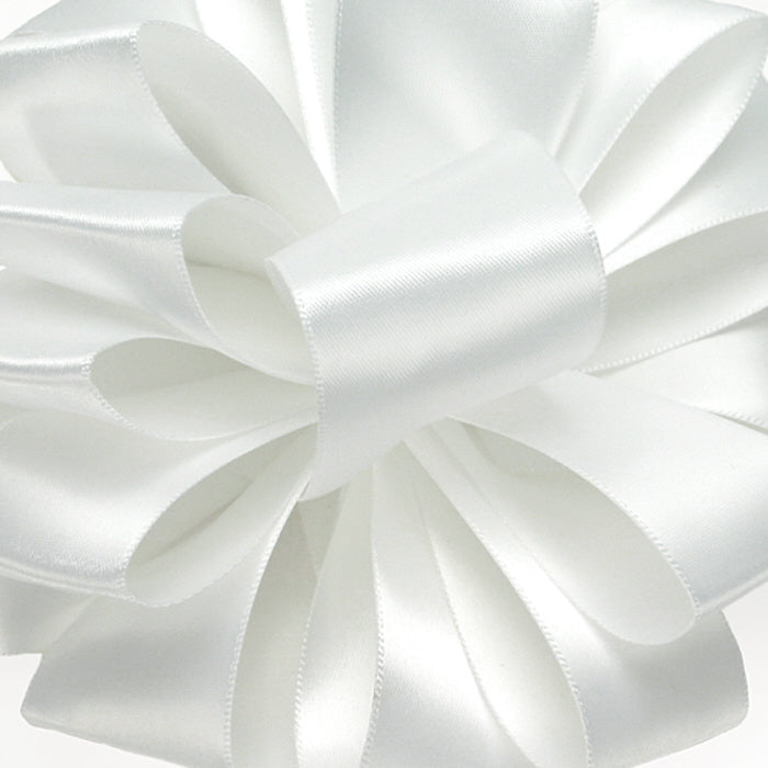 Double Face Satin Ribbon/white