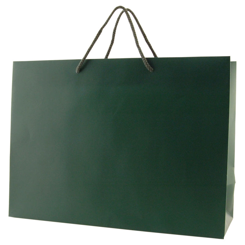 Matte Rope Handle Bags - Hunter Green