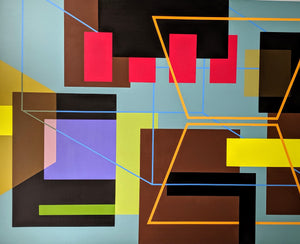 """Architechtonic 2"" Acrylic On Canvas 60"" x 48"""
