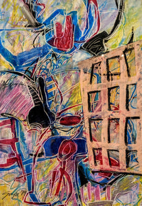 Debi Grupe at GrupeART Oil Pastel on Mat Board Original