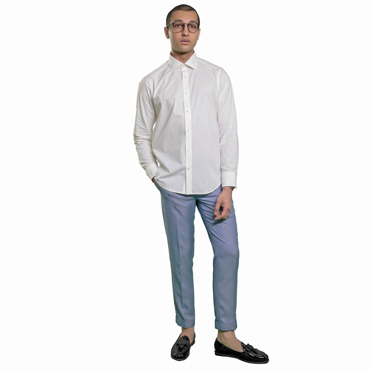 Dress Shirt White Poplic Fabric Men Menswear Fashion Mohtaram