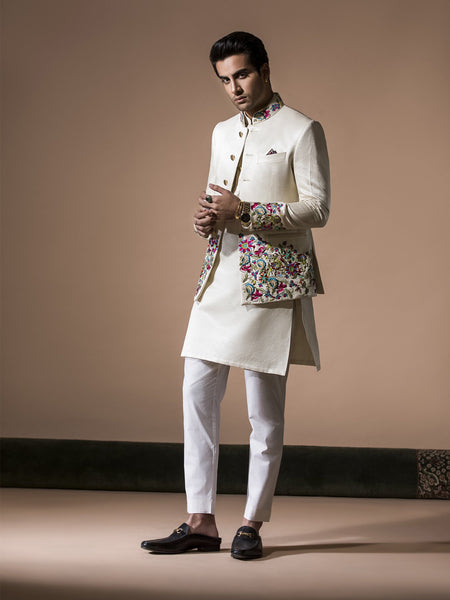 Bandgalla - White Embroidered