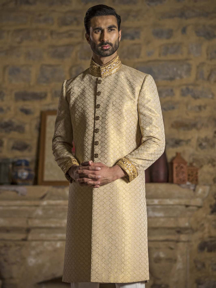 Dull Gold - Sherwani