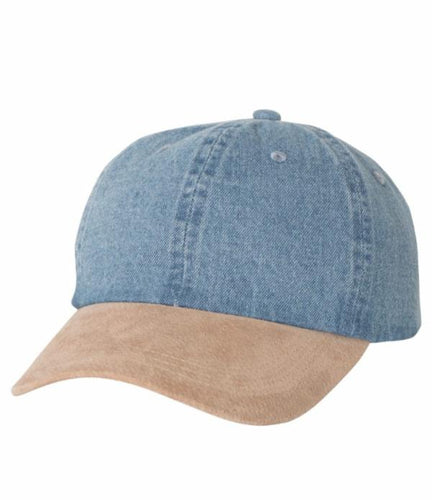 Denim Suede Dad Cap -  8.00 EA