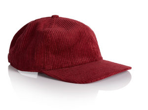 6 Panel Unconstructed Corduroy Strap Back  - 9.80 EA