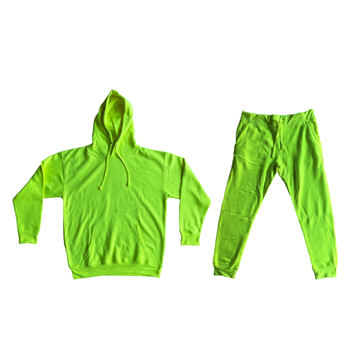 Neon Fleece Sweat Suit Set - 27.00