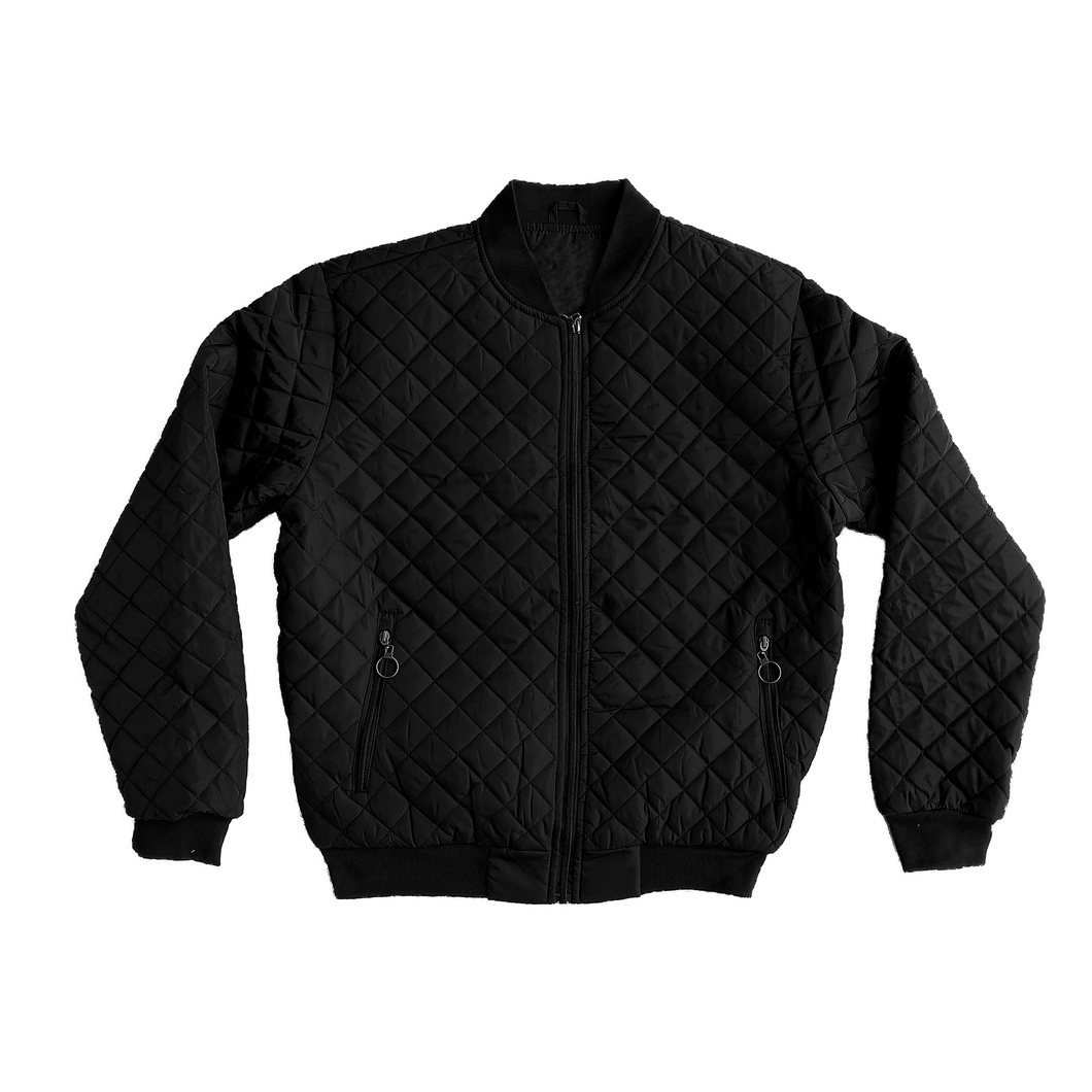 Quilted Bomber Jacket - 24.00