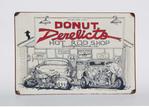 Donut Derelicts Metal vintage Sign - Donut Derelicts