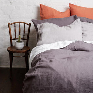 Charcoal Gray Linen Pillowcases (Pair) - PIGLET US