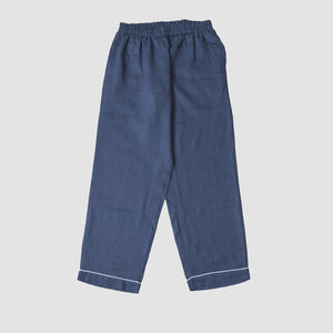 Blueberry Linen Pajama Trouser Set - PIGLET US