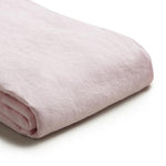 Blush Pink Linen Twin Duvet Cover Set