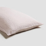 Blush Pink Linen Pillowcase (Pair)