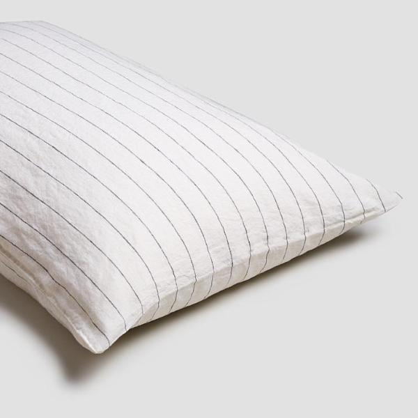 Luna Stripe Linen Pillowcases (Pair) - Piglet in Bed