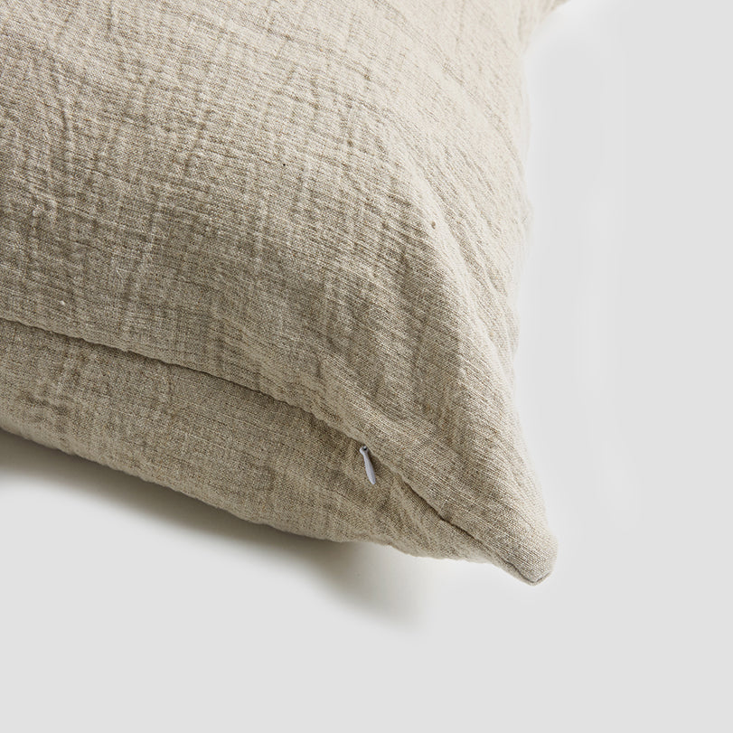 Oatmeal Crinkle Cushion Cover