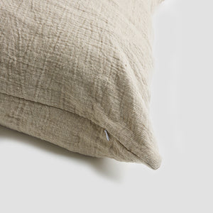 Oatmeal Crinkle Cushion Cover - Piglet in Bed