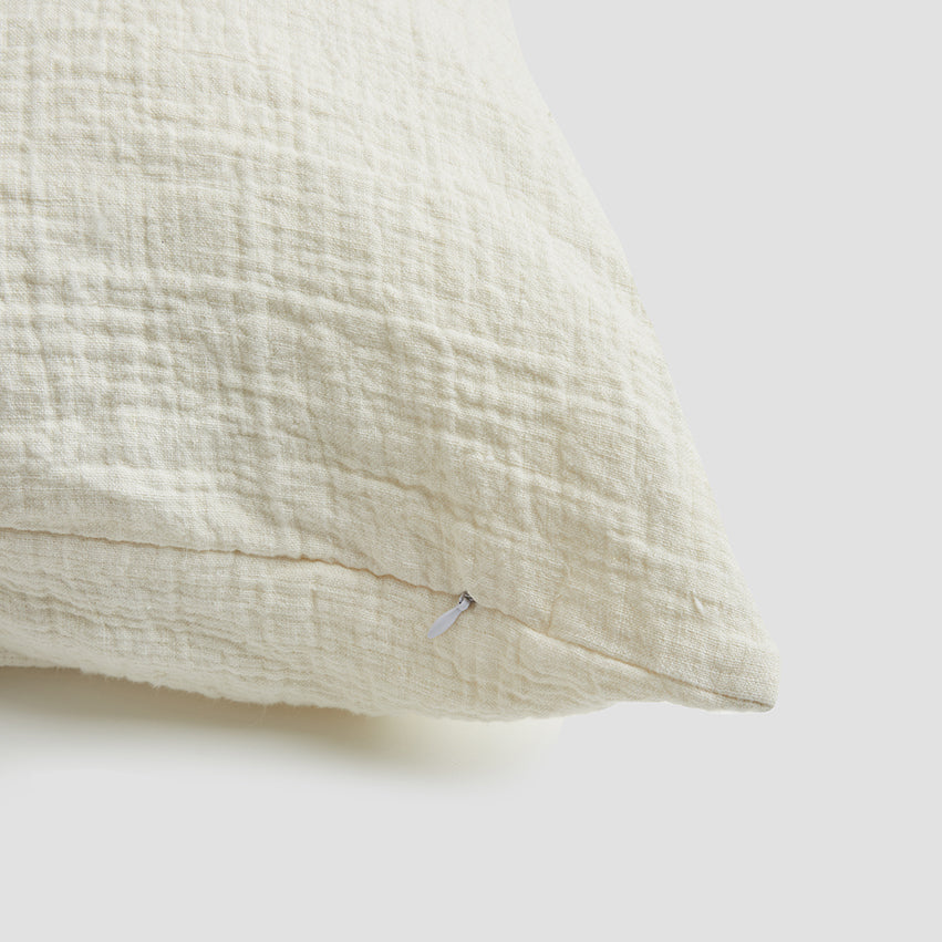 Cream Crinkle Cushion Cover