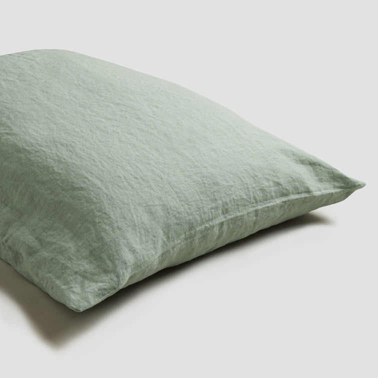 Sage Green Linen Pillowcases (Pair) - PIGLET US