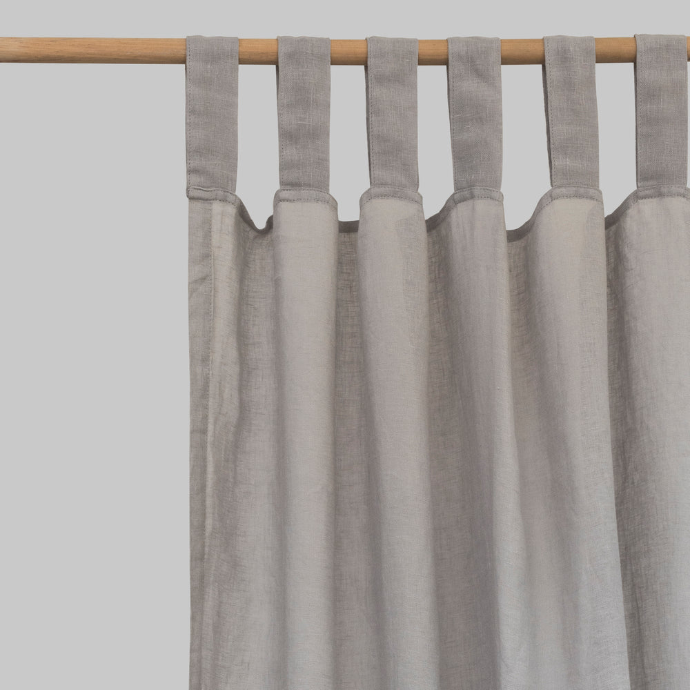 Dove Gray Linen Curtains (Pair) - PIGLET US