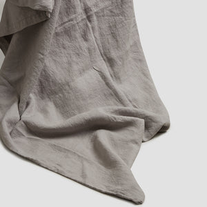 Dove Gray Linen Duvet Cover - Piglet in Bed