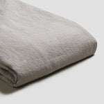 Dove Gray Linen Twin Duvet Cover Set