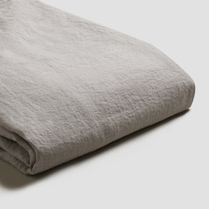 Dove Gray Linen Duvet Cover - PIGLET US
