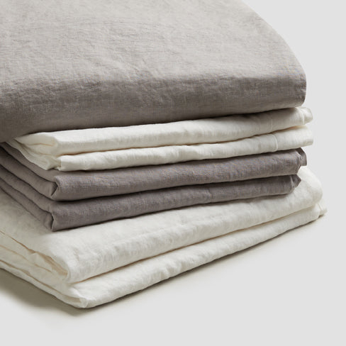 Dove Gray Linen Complete Sheet Set