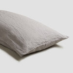 Dove Gray Linen Pillowcases (Pair)