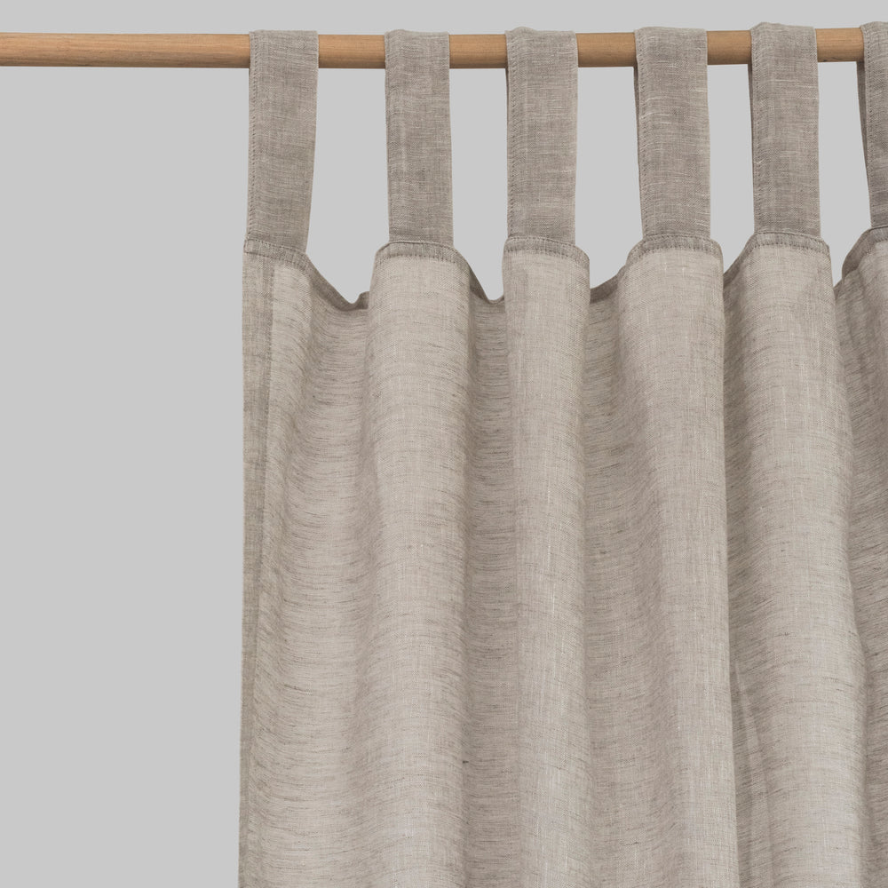 Oatmeal Linen Curtains (Pair)