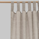 Oatmeal Linen Curtains (Pair) - PIGLET US