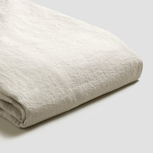 Oatmeal Linen Twin Duvet Cover Set - PIGLET US