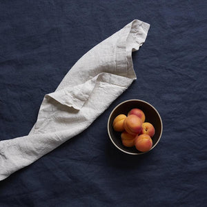 Set of 6 Napkins (Dove Grey, Oatmeal, Navy, or White) - Piglet in Bed