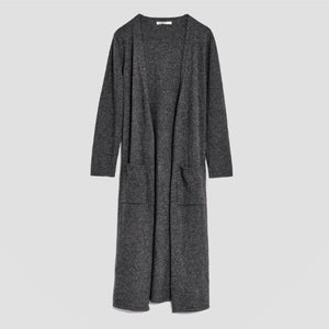 Piglet x WoolOvers Cashmere Merino Dressing Gown Dark Charcoal - PIGLET US