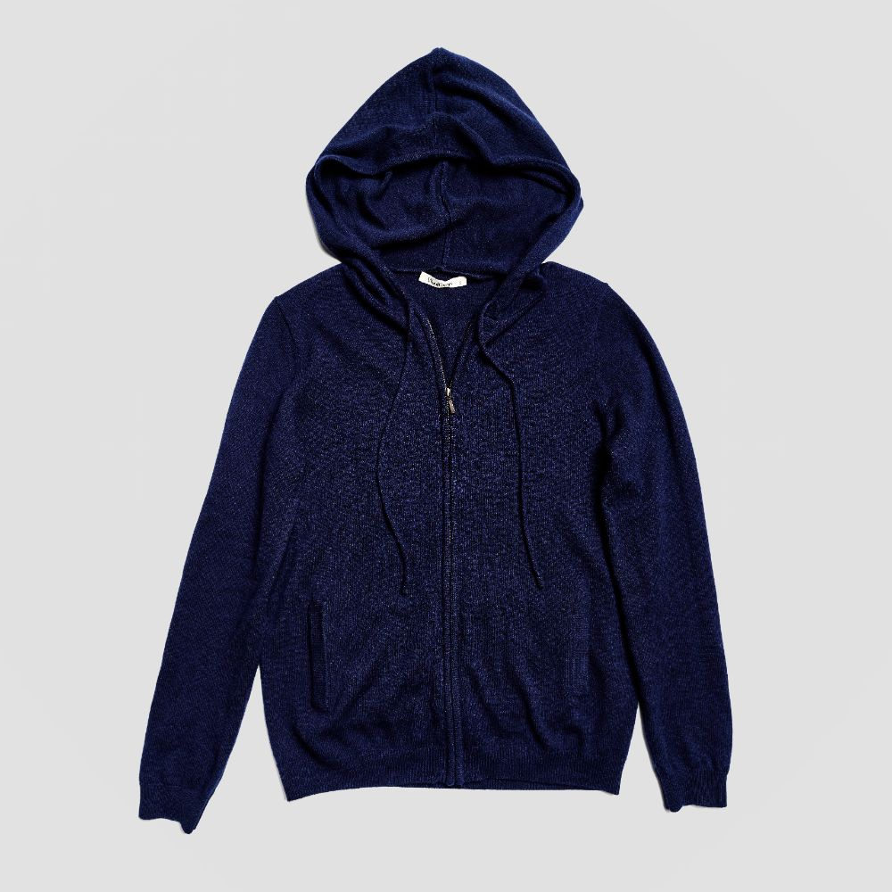 Piglet x WoolOvers Cashmere Merino Hoodie - Neo Navy - PIGLET US