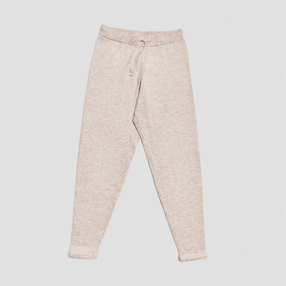 Piglet x WoolOvers Cashmere Merino Lounge Joggers Natural Marl - Piglet in Bed