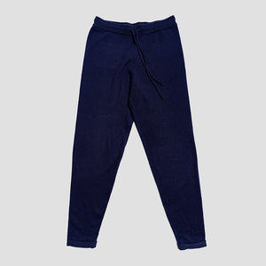 Piglet x WoolOvers Cashmere Merino Lounge Joggers Neo Navy - Piglet in Bed