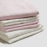 Blush Pink Linen Complete Sheet Set