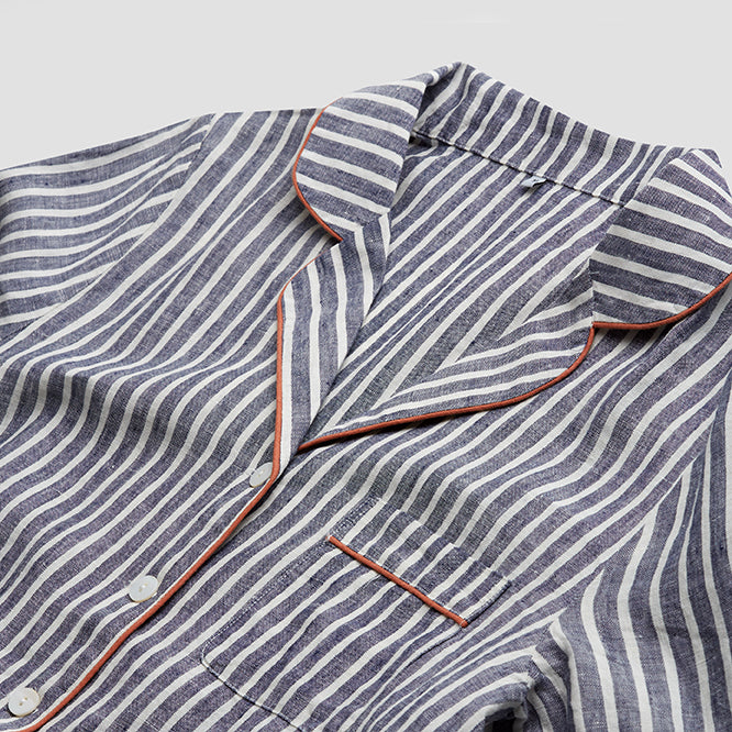 Midnight Stripe Pajama Shirt (Top Only) - PIGLET US