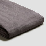 Charcoal Grey Linen Twin Duvet Cover Set