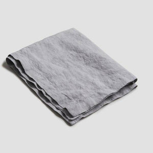 Dove Gray Linen Napkin - Piglet in Bed