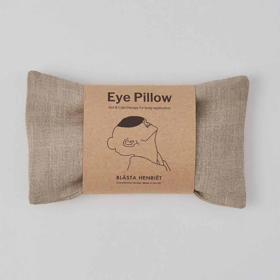 Wheat Eye Pillow in Plain Linen - PIGLET US