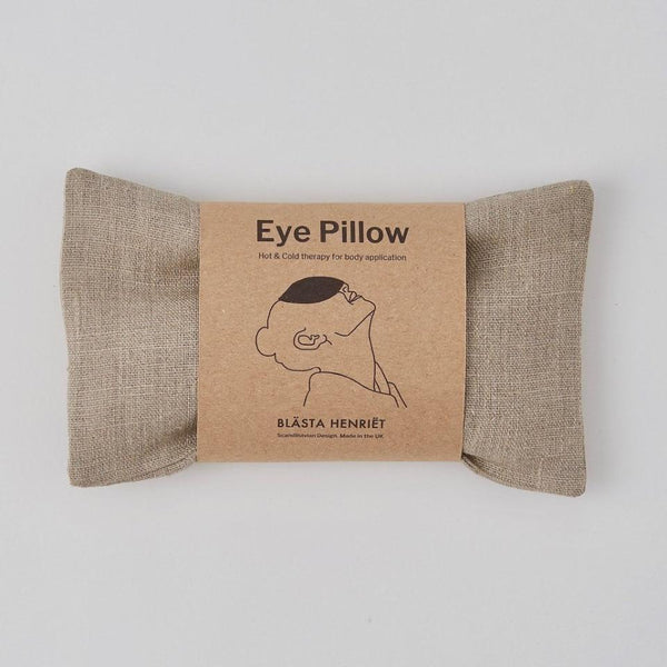 Wheat Eye Pillow in Plain Linen
