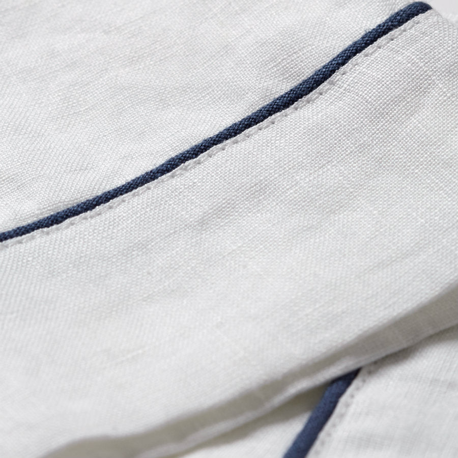 White Linen Pajama Trousers - Piglet in Bed