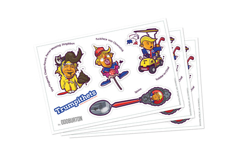 Trumpithets Sticker Sheet 1 pack of 3