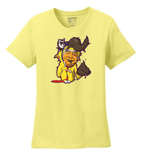 Tiny-Fingered, Cheeto-Faced, Ferret-Wearing Shitgibbon womens t-shirt