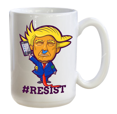 #resist hate with the Twitler 15oz coffee mug